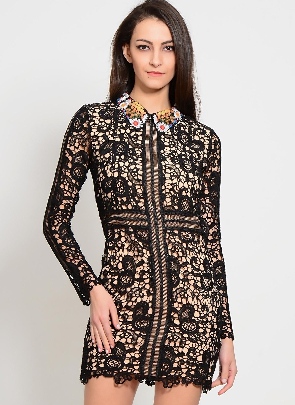 Endless Rose Elbise 8661d5fr Bottega Lace Dress – 139.99 TL